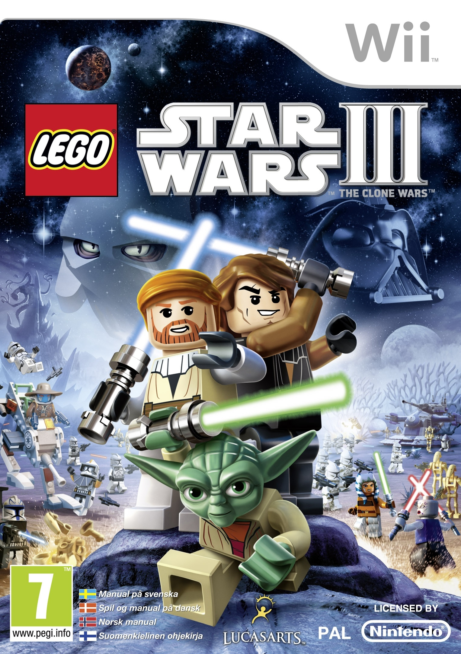 LEGO Star Wars III (3): The Clone Wars Nintendo Wii video game - eveikals.lv