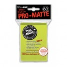 UP - Standard Sleeves - Pro-Matte - Non Glare - Bright Yellow (50 Sleeves) 84149