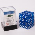 Blackfire Dice Cube - 12mm D6 36 Dice Set - Transparent Dark Blue 91698