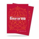 UP - Standard Sleeves - Force of Will - Red Card Back (65ct) 84609