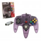 TTX N64 Classic Controller Clear Purple - pults
