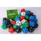 Blackfire Dice - Assorted D20 Countdown Dice 30 mm (50 Dice)