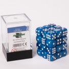 Blackfire Dice Cube - 12mm D6 36 Dice Set - Marbled Light Blue 91717