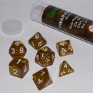 Blackfire Dice - 16mm Role Playing Dice Set - Dwarven Gold (7 Dice)