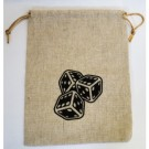 Blackfire Flax Dice Bags 15x20CM with Logo (20 Bags) 40110