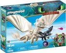 DreamWorks Dragons – Light Fury with Baby Dragon and Children /Toys