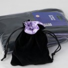 Blackfire Dice - Velvet Dice Bag with Purple Satin Lining & No Logo (20 Bags)