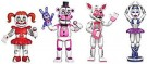 Five Nights at Freddys FNAF Figure (4pk Box) PVD /Toys