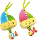 Lelly 30 cm Baby World Chimes Boat Plush Toy /Toys