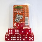 Blackfire Dice - 16mm D6 Dice Set - Glitter Red (15 Dice) 40022