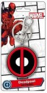 Marvel Deadpool Coloured Pewter Logo  Key Ring