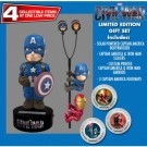Captain America Civil War - Captain America Solar Powered Body Knocker 15cm Limited Edition Gift Set incl. Earbugs Scalers & Hubsnaps NECA61386