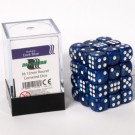 Blackfire Dice Cube - 12mm D6 36 Dice Set - Marbled Dark Blue 91716