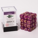 Blackfire Dice Cube - 12mm D6 36 Dice Set - Marbled Purple/Gold 91725