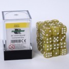 Blackfire Dice Cube - 12mm D6 36 Dice Set - Marbled Yellow 91715