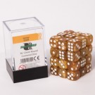 Blackfire Dice Cube - 12mm D6 36 Dice Set - Marbled Gold 91714