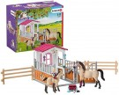 (D) Schleich - Horse Stall with Arab Horses and Groom (Damage Packaging) /Toys