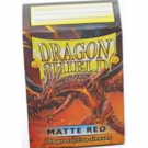 Dragon Shield Standard Sleeves - Matte Red (100 Sleeves) 11007