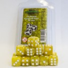 Blackfire Dice - 16mm D6 Dice Set - Marbled Yellow (15 Dice) 40018