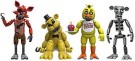 Five Nights at Freddys FNAF Figure (4pk Box) Foxy, Gold Freddy, Chica, and Endoskeleton Freddy /Toys