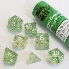 Blackfire Dice - 16mm Role Playing Dice Set - Magic Green (7 Dice) 40039