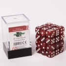 Blackfire Dice Cube - 12mm D6 36 Dice Set - Marbled Pearlized Red 91713