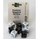 Blackfire Dice - Positive/Negative D6 Dice 16 mm (8 Dice)