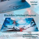 Blackfire Stitched Playmat - Svetlin Velinov Edition Mountain - Ultrafine 2mm BF_PMS001