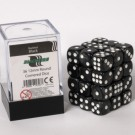 Blackfire Dice Cube - 12mm D6 36 Dice Set - Marbled Black 91723