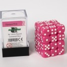 Blackfire Dice Cube - 12mm D6 36 Dice Set - Opaque Pink 91690