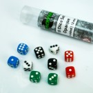 Blackfire Dice - 12mm opaque D6 in Tube (10 Dice) BF400432