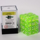 Blackfire Dice Cube - 12mm D6 36 Dice Set - Transparent Light Green 91704