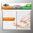 Blackfire Sleeves - Standard Double-Matte White (80 Sleeves) BF03594