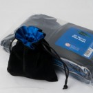Blackfire Dice - Velvet Dice Bag with Blue Satin Lining & No Logo (20 Bags)
