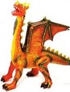 Globo Toys  38 cm W'Toy Soft Flying  Dragon Orange  /Toys