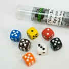 Blackfire Dice - 16mm opaque D6 in Tube (7 Dice) BF400456