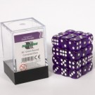Blackfire Dice Cube - 12mm D6 36 Dice Set - Transparent Dark Purple 91700