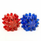Blackfire Constructible Modificator-Dice - Blue & Red (2 Pack) 40176