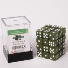 Blackfire Dice Cube - 12mm D6 36 Dice Set - Marbled Pearlized Green 91722