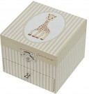 (U) Sophie the Giraffe Trousselier Cube Music Box  (Used/Un-tested) /Toys