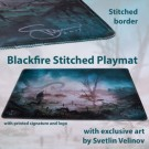 Galda spēle Blackfire Stitched Playmat - Svetlin Velinov Edition Swamp - Ultrafine 2mm BFPM403488