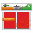 Blackfire Sleeves - Standard Double-Matte Red (80 Sleeves) BF03587