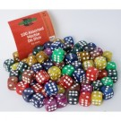 Blackfire Dice - Assorted Marble D6 Dice 16 mm (100 Dice)