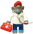 (D) Jazwares - Benjamin the Elephant (As a Doctor) (Damaged Packaging) /Toys