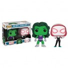 Funko POP! Marvel - She-Hulk & Spider-Gwen 2-Pack Vinyl Figures 10cm Limited FK12517