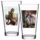 Funko POP! Homewares Star Wars Episode 8: The Last Jedi - Pint Glass Set of 2: Chewbacca & R2-D2 FKSW05368