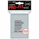 UP - Standard Sleeves - Pro-Fit Card Clear (100 Sleeves) 82712
