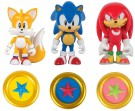 "Classic Sonic 3"" Collector Figure Pack-3 Pack W Coin /Toys"