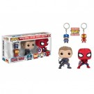 Funko POP! Marvel - Captain America 3: Captain America, Iron Man, Hawkeye, Spider-Man - 4-Pack Vinyl Figures FK7604