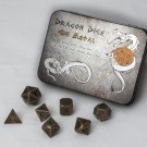 Blackfire Dice - Metal Dice Set - Gun Metal (7 Dice)